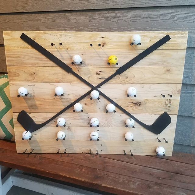 Pallet Display Golf Shelf Art