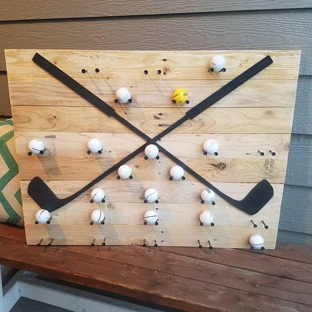 Pallet Display Golf Shelf Art