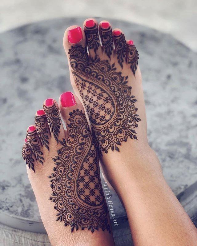 easy foot henna designs ideas