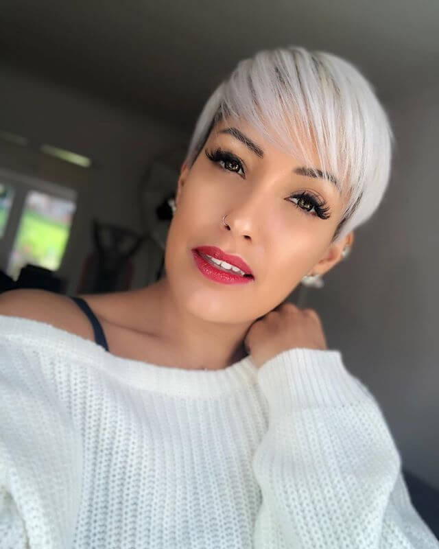 Long Blonde with Root Fade hairstyle