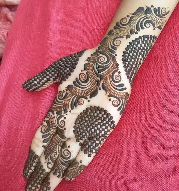 front hand mehndi design for girls