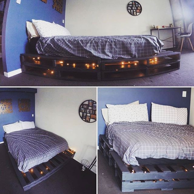 Pallet glowing bed
