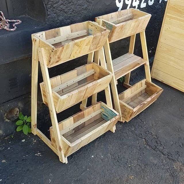 Pallet shelf racks