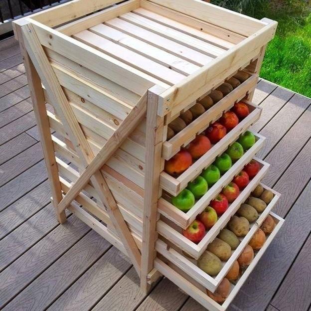 Pallet fruit trolley
