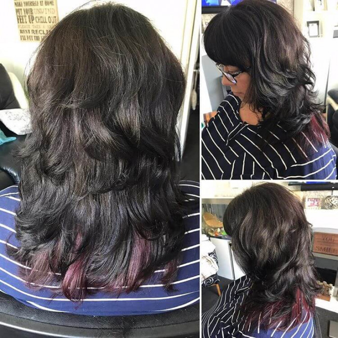 Brown Style with Long V-Cut Layers Hairstyles