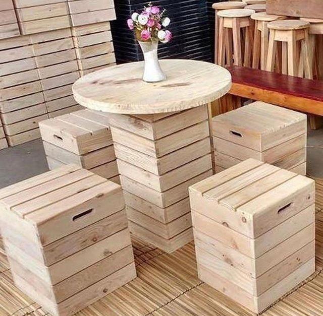 Pallet outdoor furniture ideas