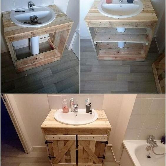 Pallet washroom cabinet