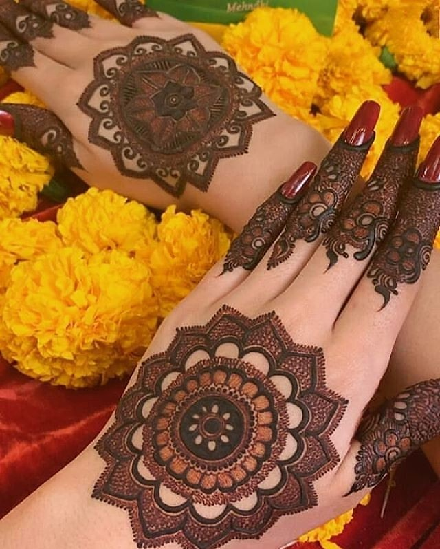 tikki mehndi designs back hand