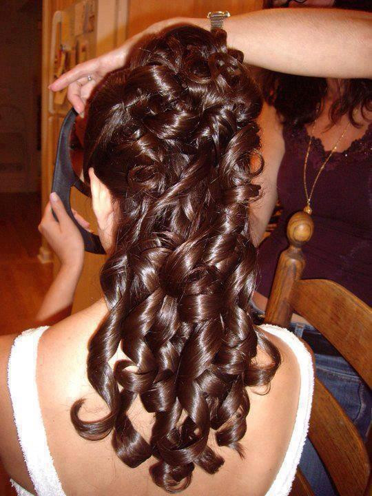 messy fishtail curly braid hairstyles