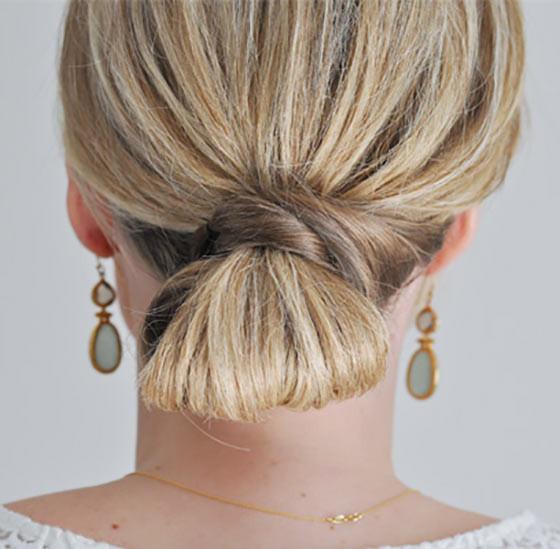 Faux Loop Bun Hairstyles For Short Hair-Medium Length Hair