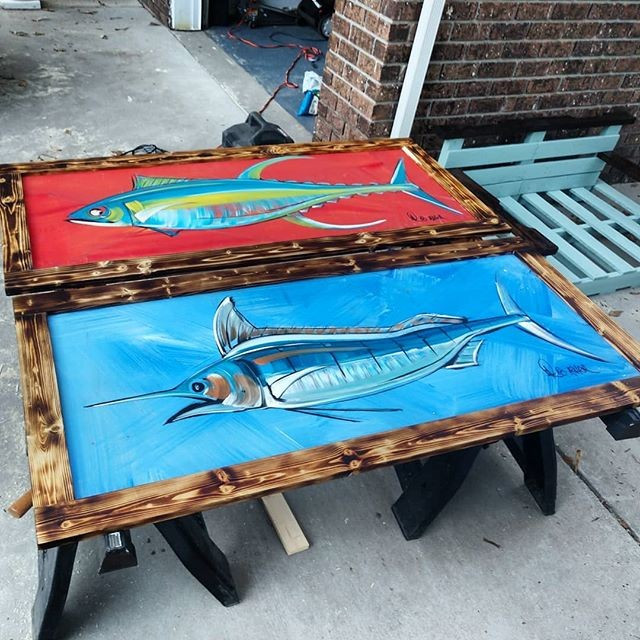 Pallet fish painting