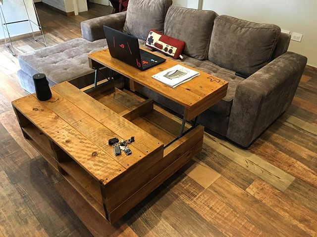 Pallet multistorage table