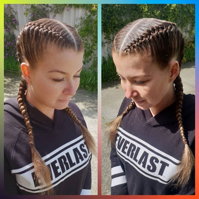 Dramatic Side Part Braids Hairstyle for Women
