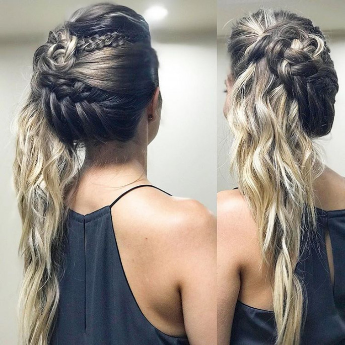 A Braided Underside Hairstyles