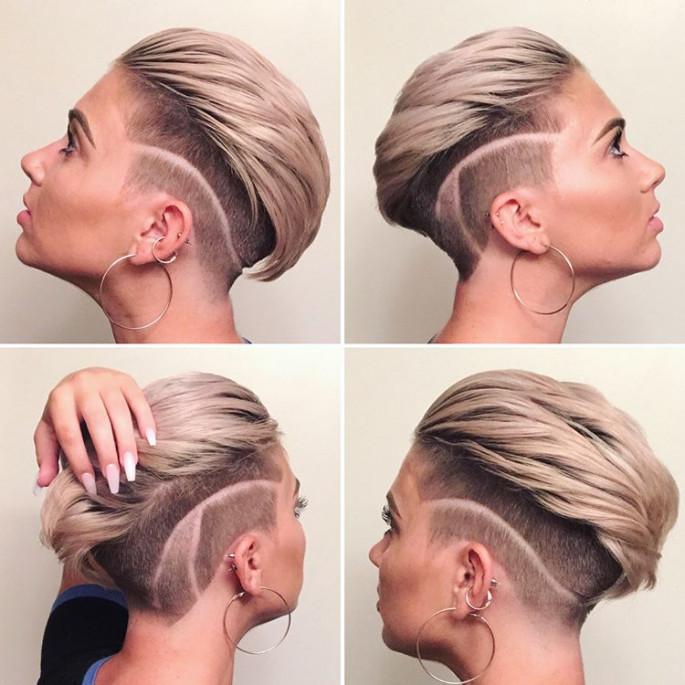 Half Bun Hairstyle for Short Hair