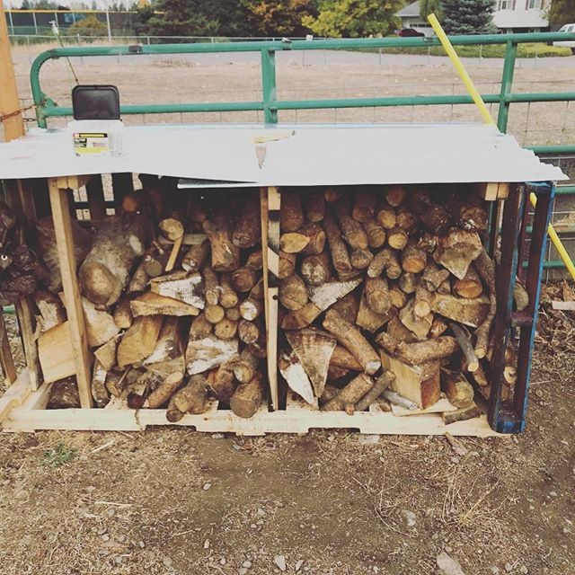 Pallet outdoor wood storage shed