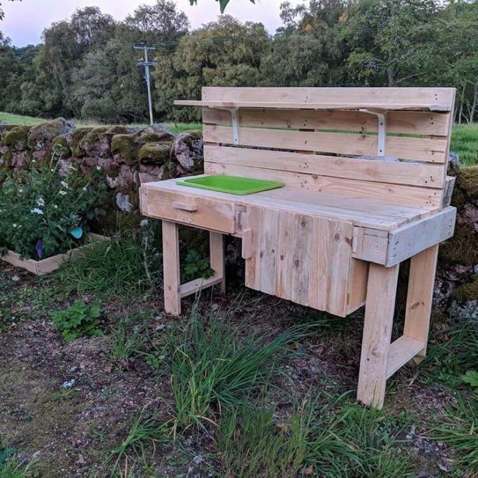 best Outdoor pallet kitchen furniture ideas