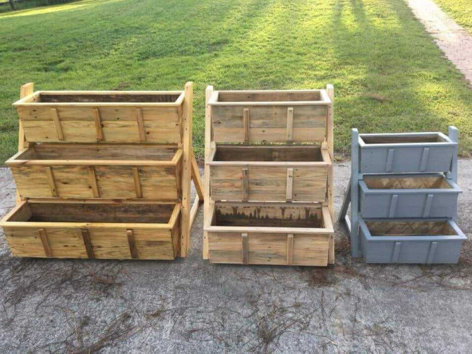 pallet garden planter storage box