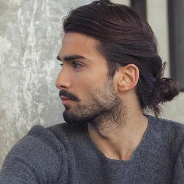 Twist In Bun Hairstyles For Men