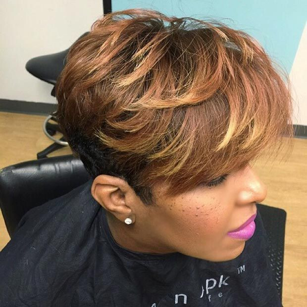 Short Blowout Hairstyle for Black Women