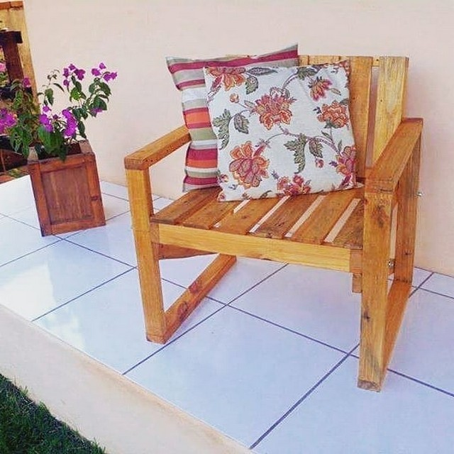 Pallet outdoor chairs ideas