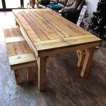 outdoor pallet table ideas