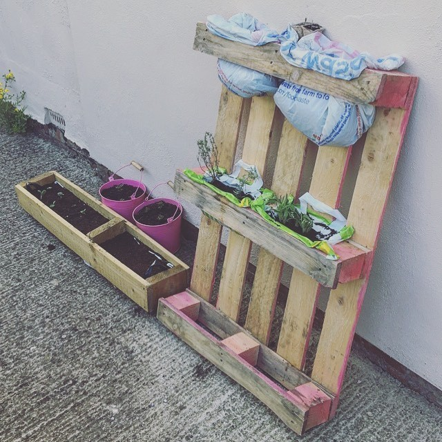 Shipping Pallet Wall Planter Box Ideas
