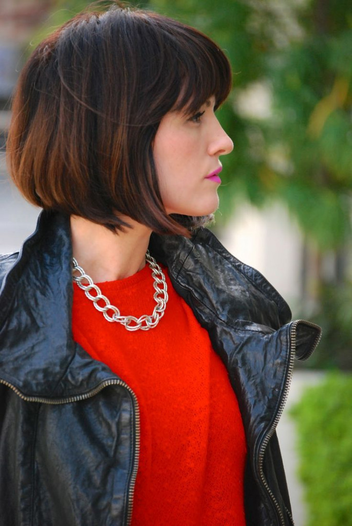 Deep-Parted Short Bob Haircuts & Hairstyles for Women