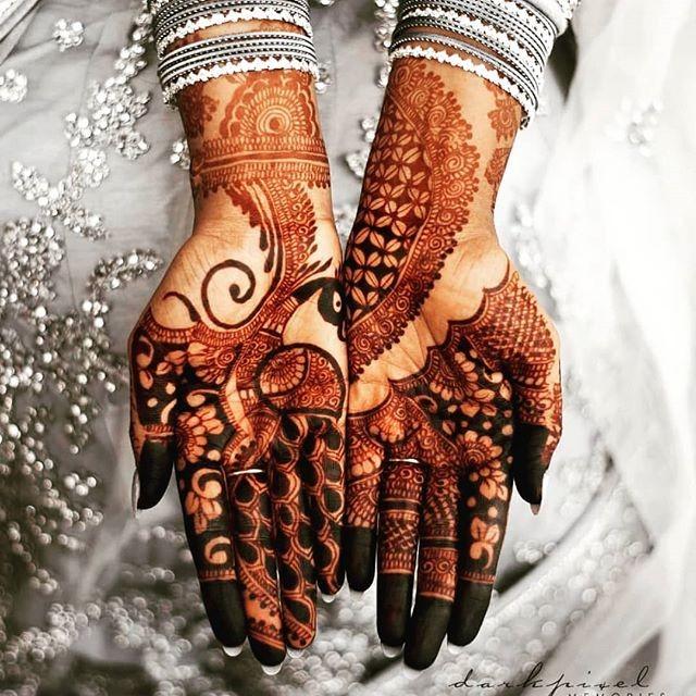 full bridal front  hand mehndi designs