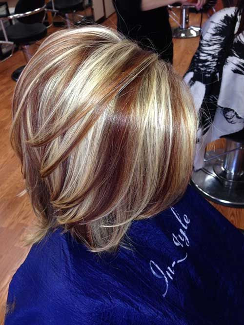 Messy Blonde Bob with Low-lights Short Bob Hairstyles & Haircuts for Women