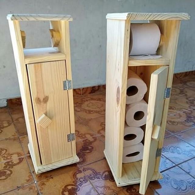 pallet tissue cabinet for bathroom