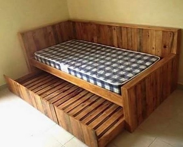 Pallet couches made from old Wood