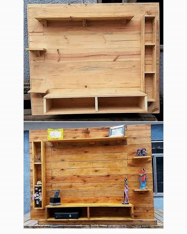 pallet wall tv shelf ideas