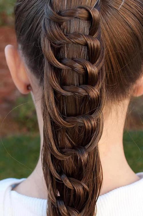 messy fishtail braid steps
