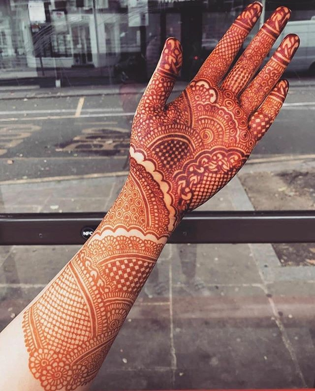 full front hand mehndi designs for bridal