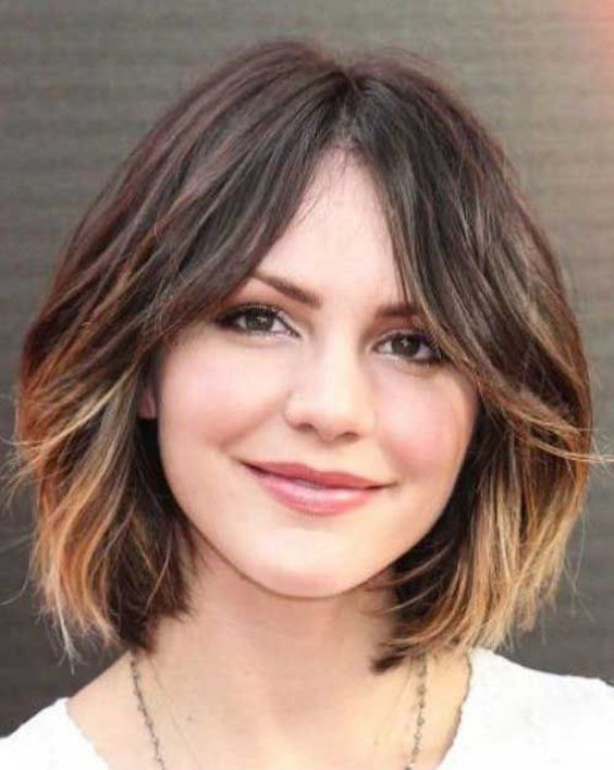 Barrel Curls Bob Short Hairstyle for Round Face