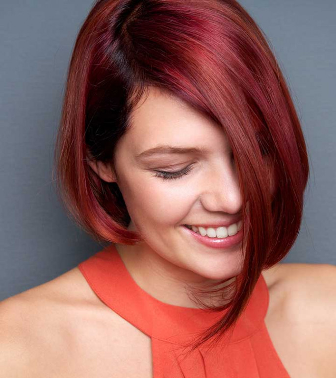 Red Head Asian Hairstyles for Girls