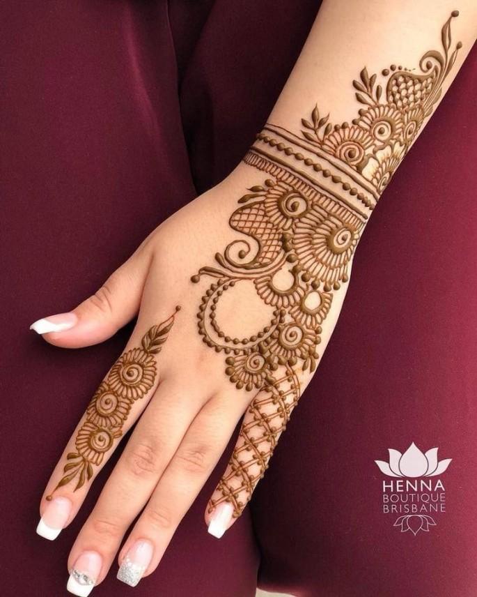 backhand full mehndi design ideas