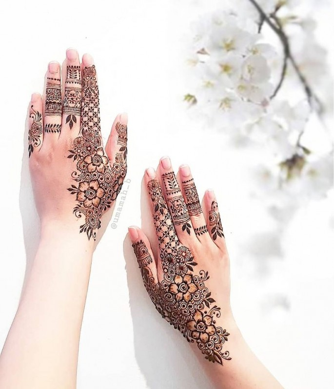 backhand full mehndi design ideas on sensod