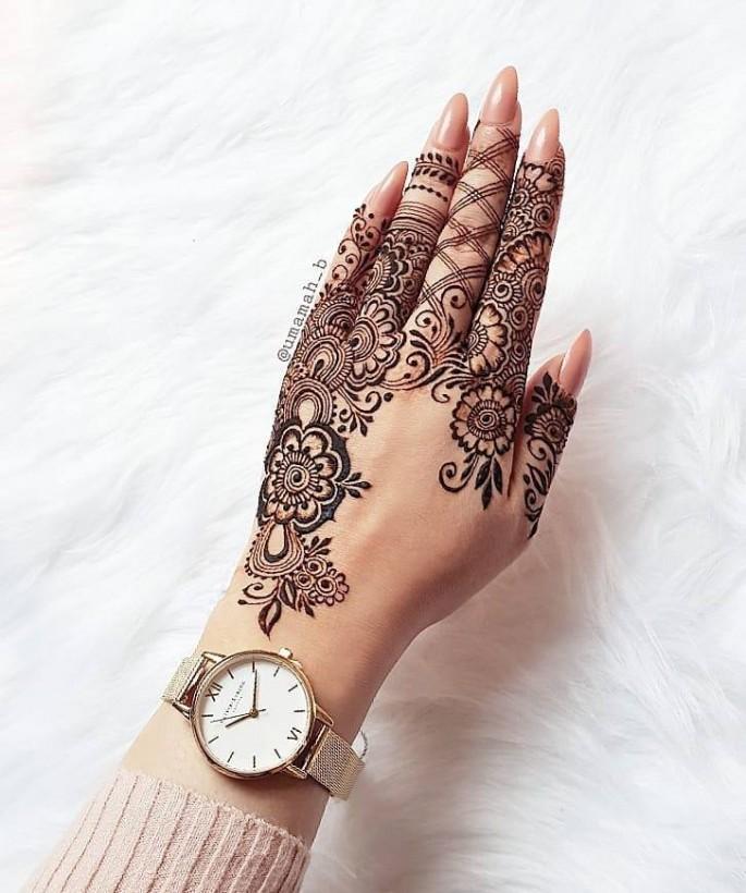 sensod backhand simple mehndi designs