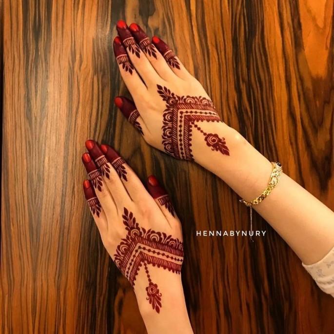 easy backhand henna design ideas