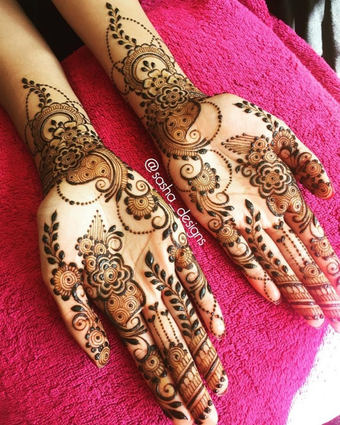 both hands mehndi designs