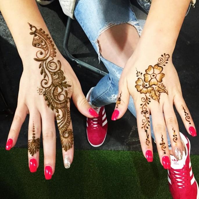 Easy henna design ideas