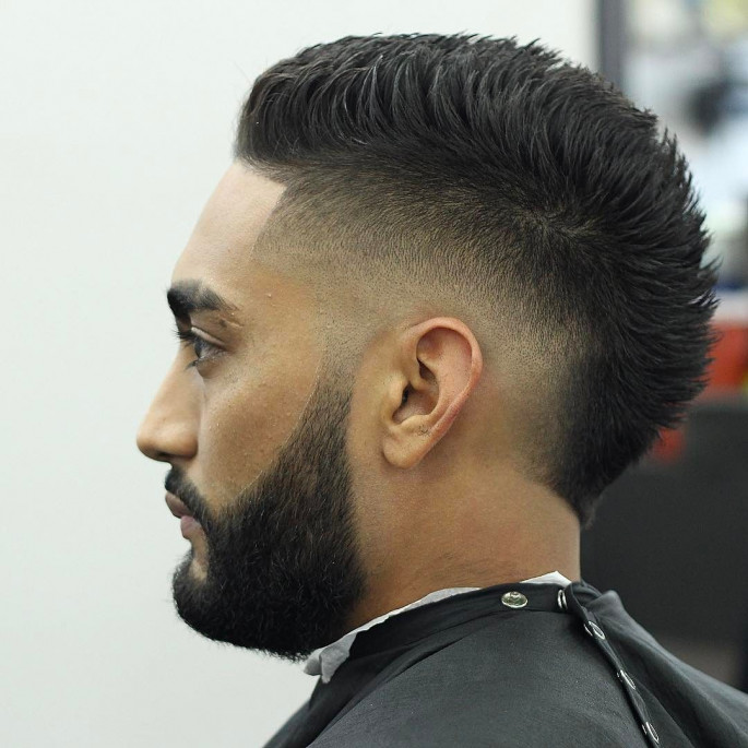 Faux Hawk With High Burst Fade Short Hairstyles for Men