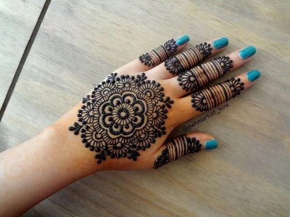 Natural backhand Henna Designs