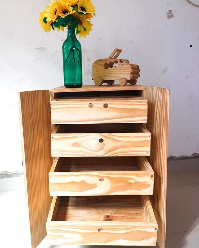 simple pallet drawer cabinet project