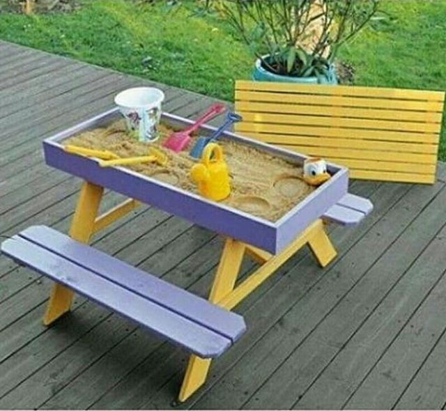 pallet kids play table ideas