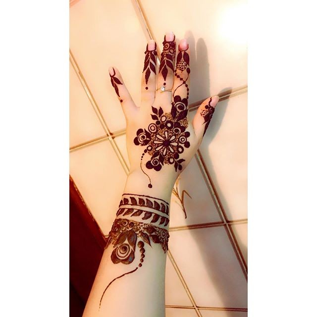 easy backhand mehndi designs