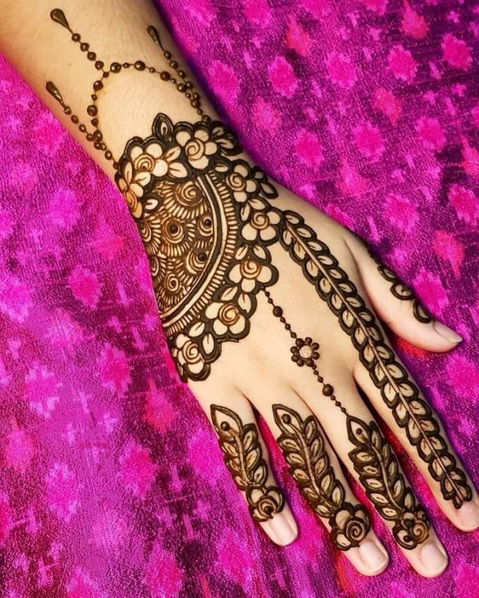 easy backhand mehndi designs