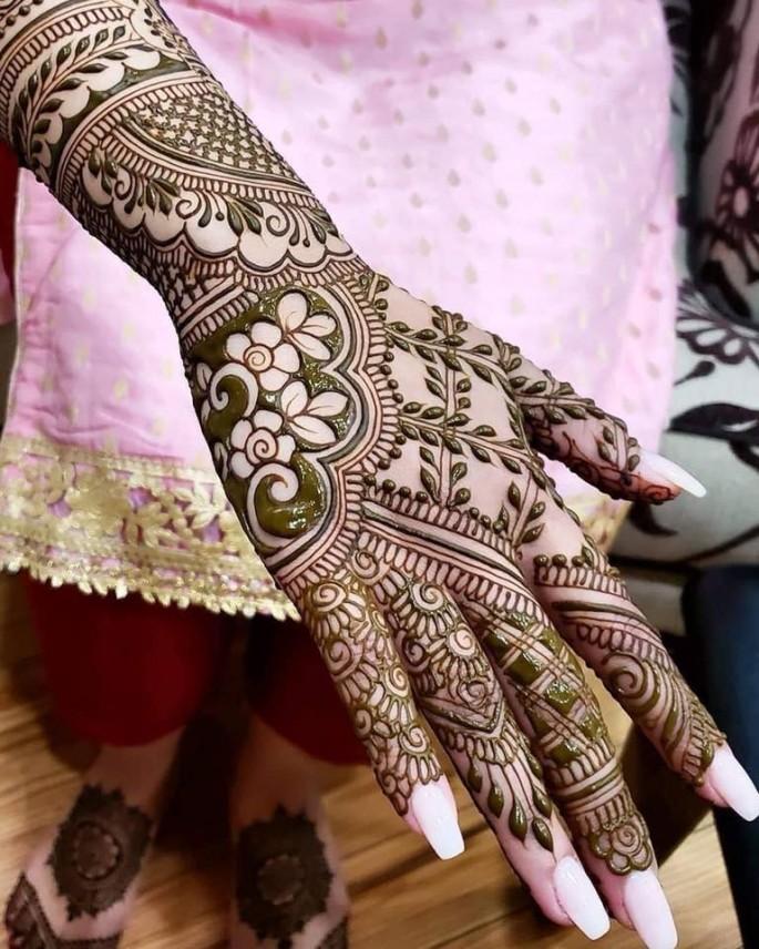 full hands bridal mehndi design ideas